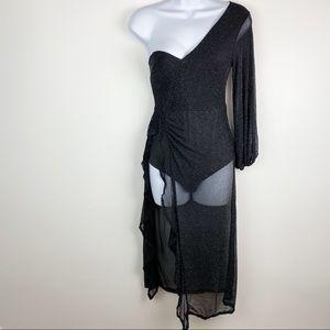 NWT CBR Revolve one asymmetric draped bodysuit